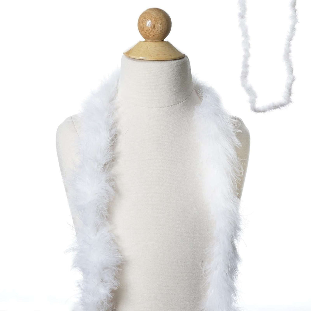 Deluxe Marabou Ostrich Feather Boas-White-2 Yards