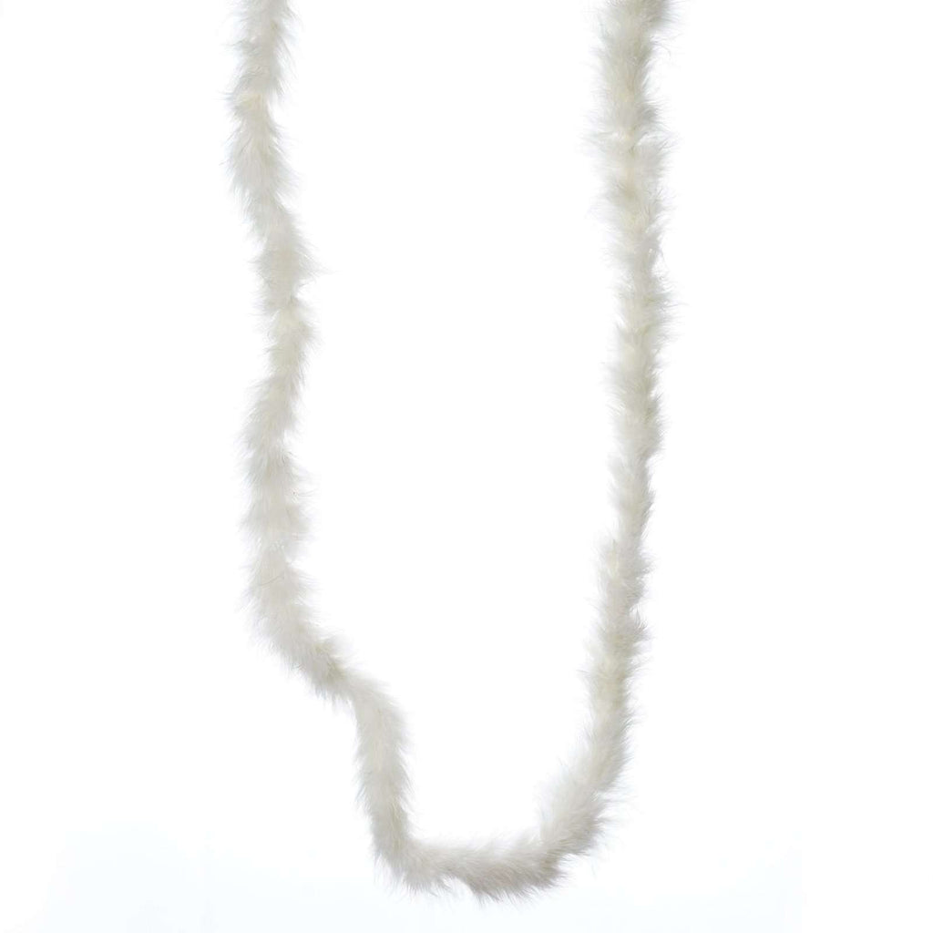 Deluxe Marabou Ostrich Feather Boa-Ivory-2 Yards