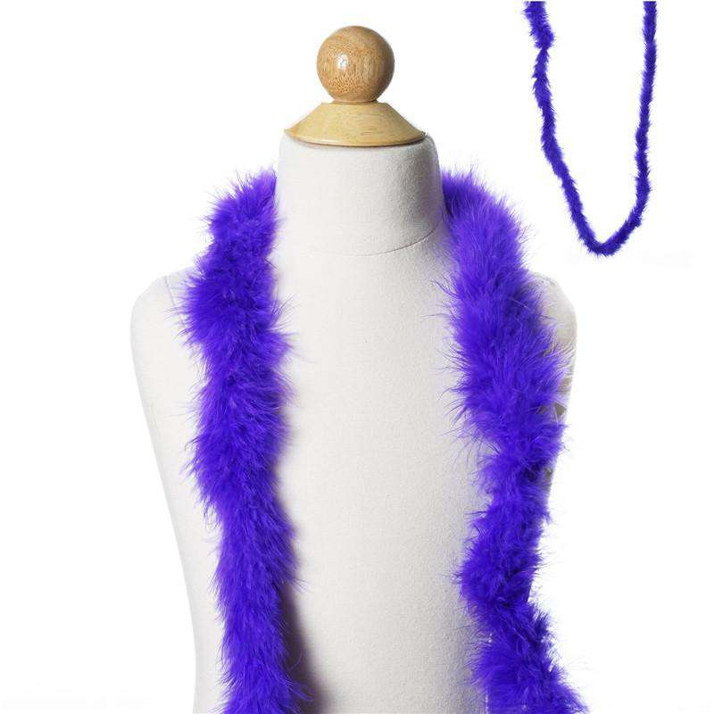 Deluxe Marabou Ostrich Feather Boa - Purple- 2 Yards