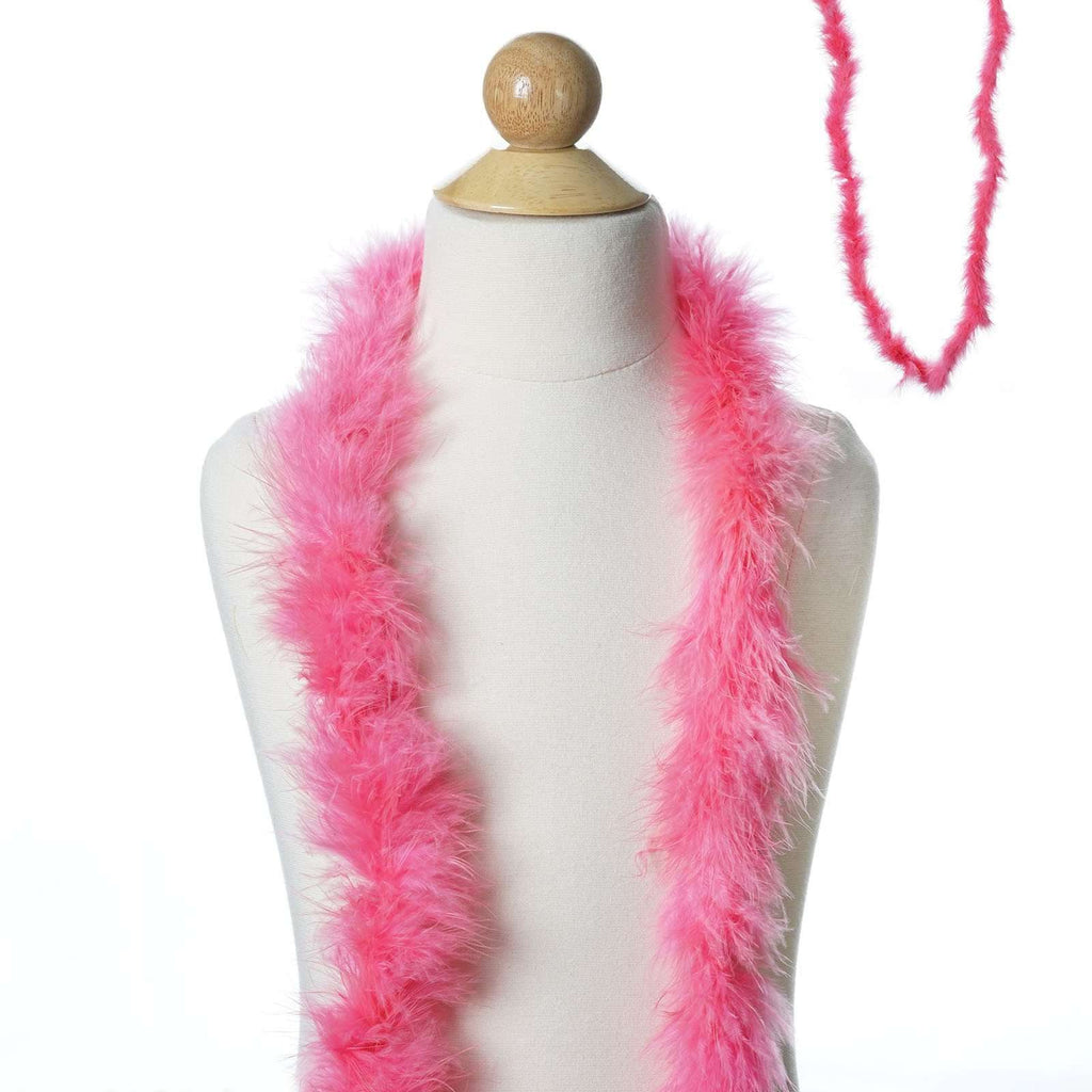 Deluxe Marabou Ostrich Feather Boa - Hot Pink- 2 Yards