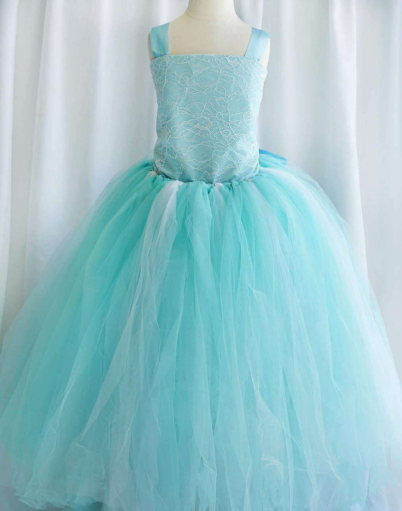 Fairy Tutu Flower Girl Dress - Turquoise - Child-2