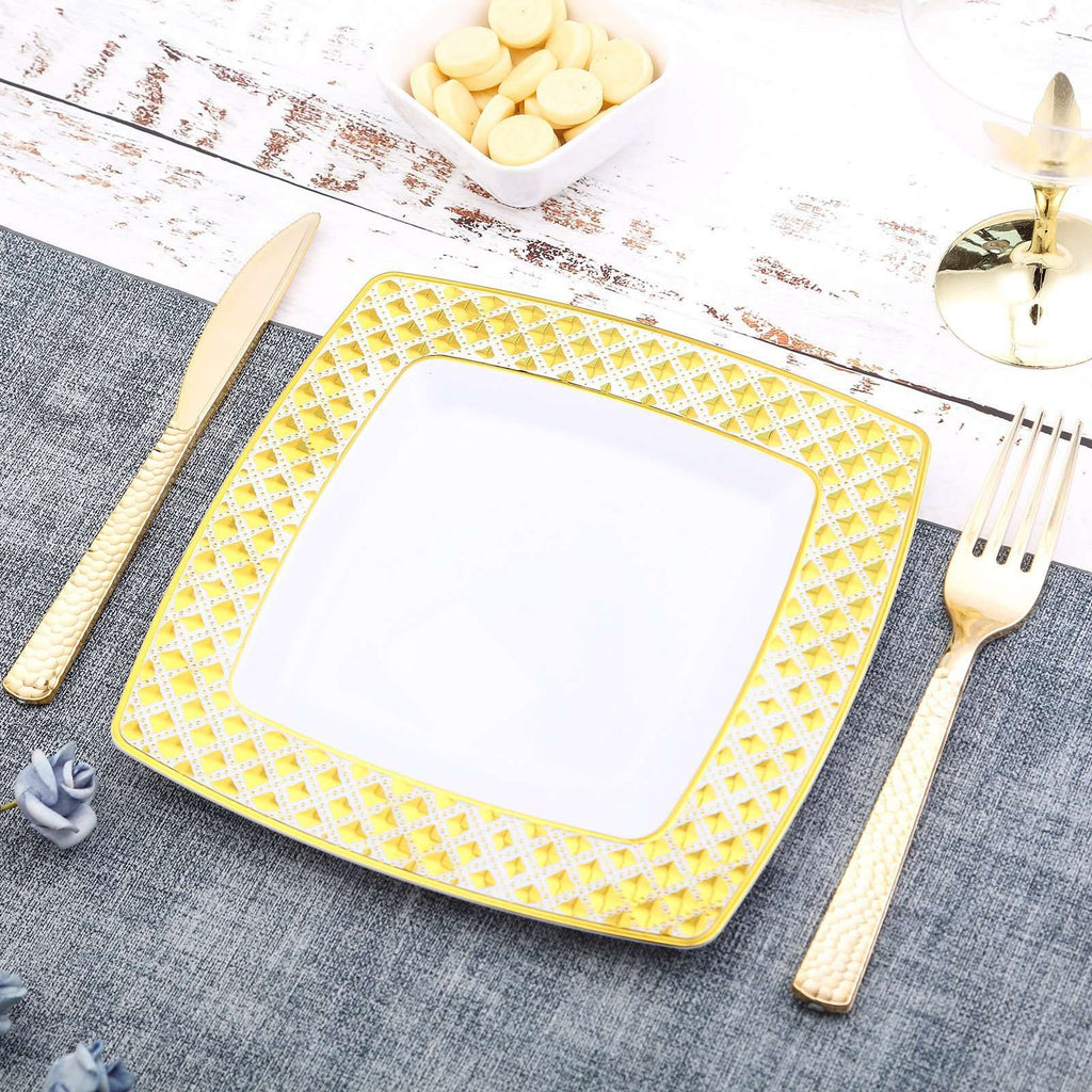 Disposable Square Plates| Salad Dessert Plates | 7"