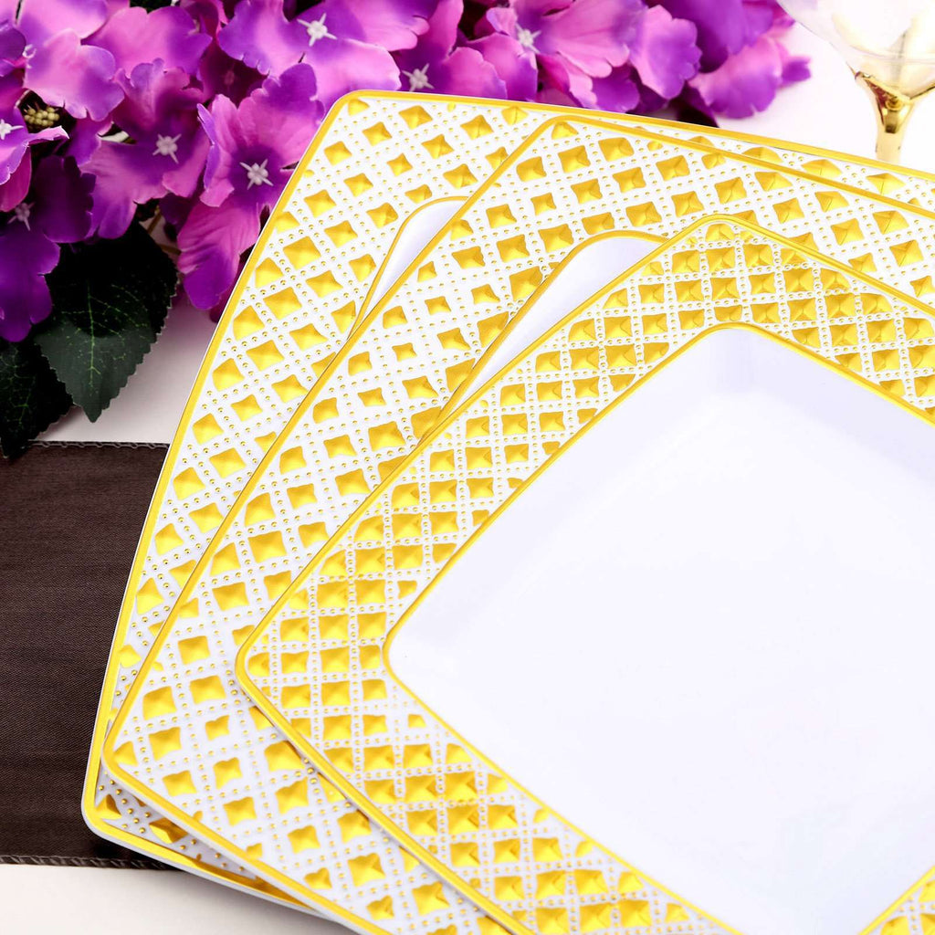 Disposable Square Plates | Dinner Plates | 9"