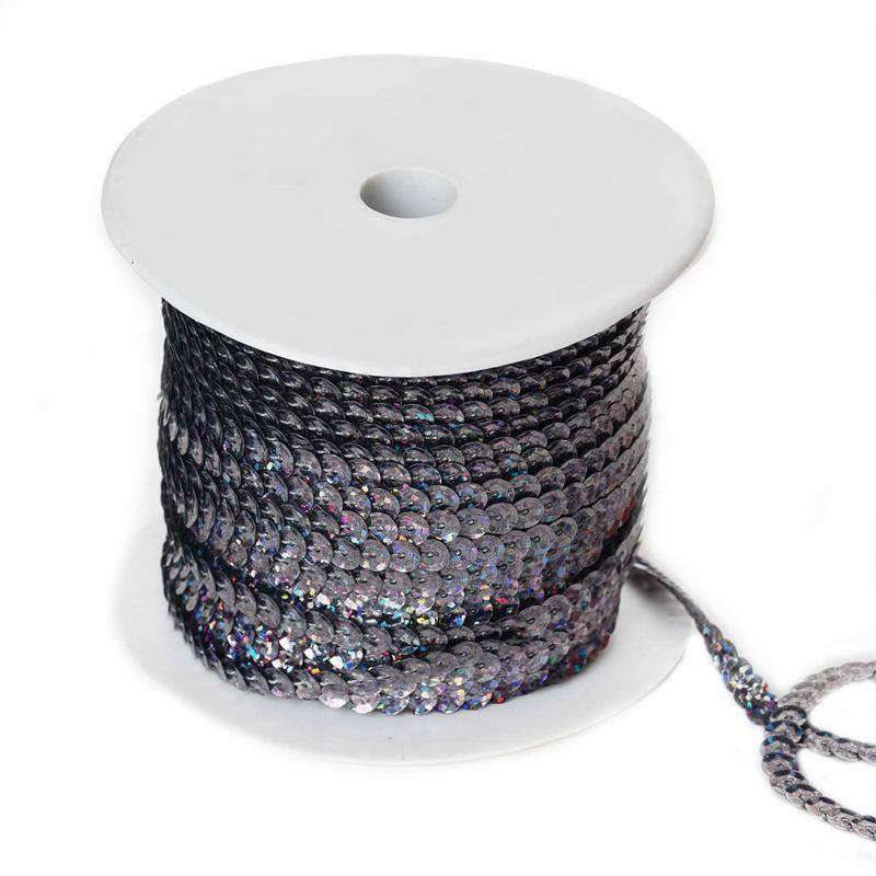 80 Yard Decorative Wedding Craft Party Sequin Trim - Grey