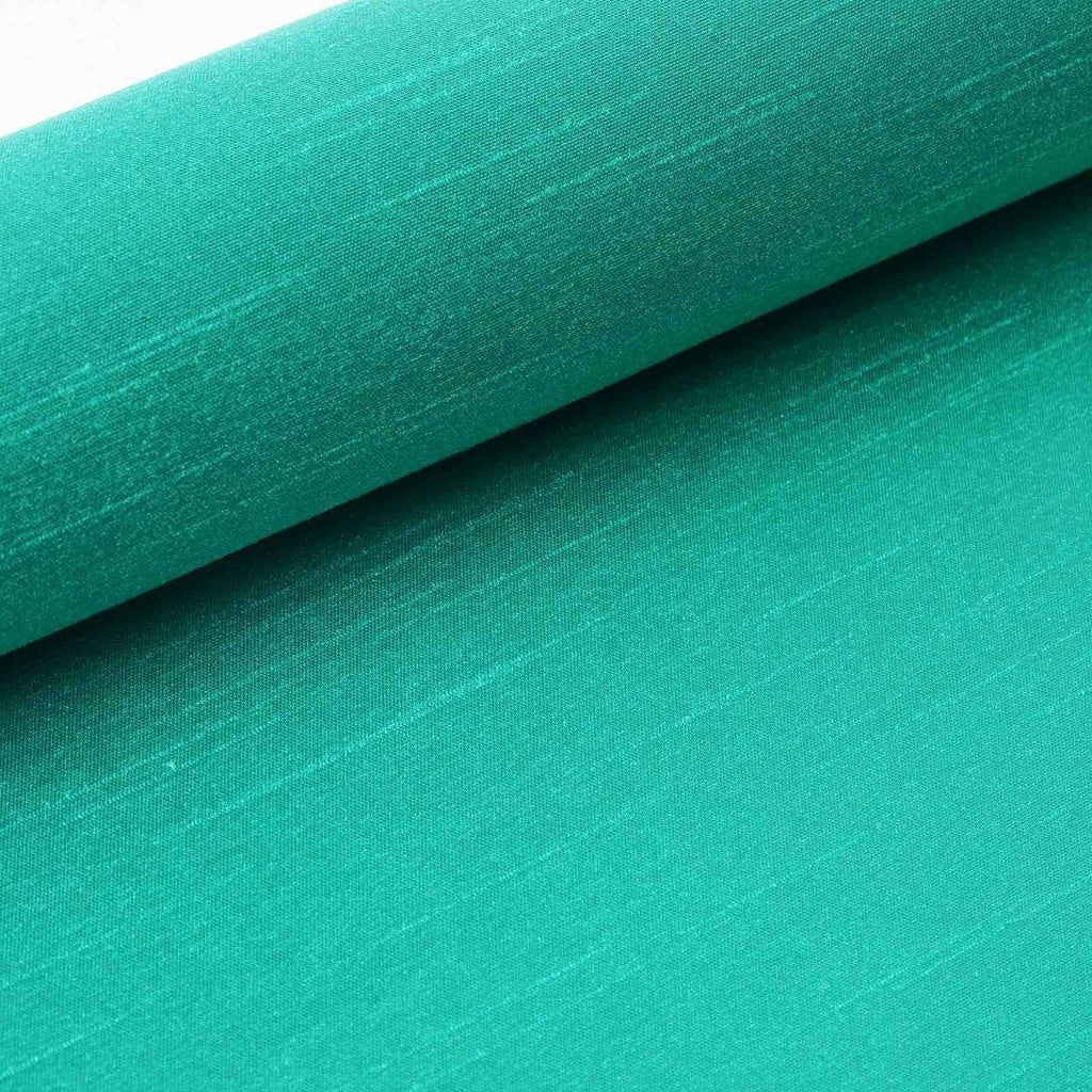 "Premium Slub Polyester Bridal Dress Fabric Bolt - Emerald - 12""x10Yards"