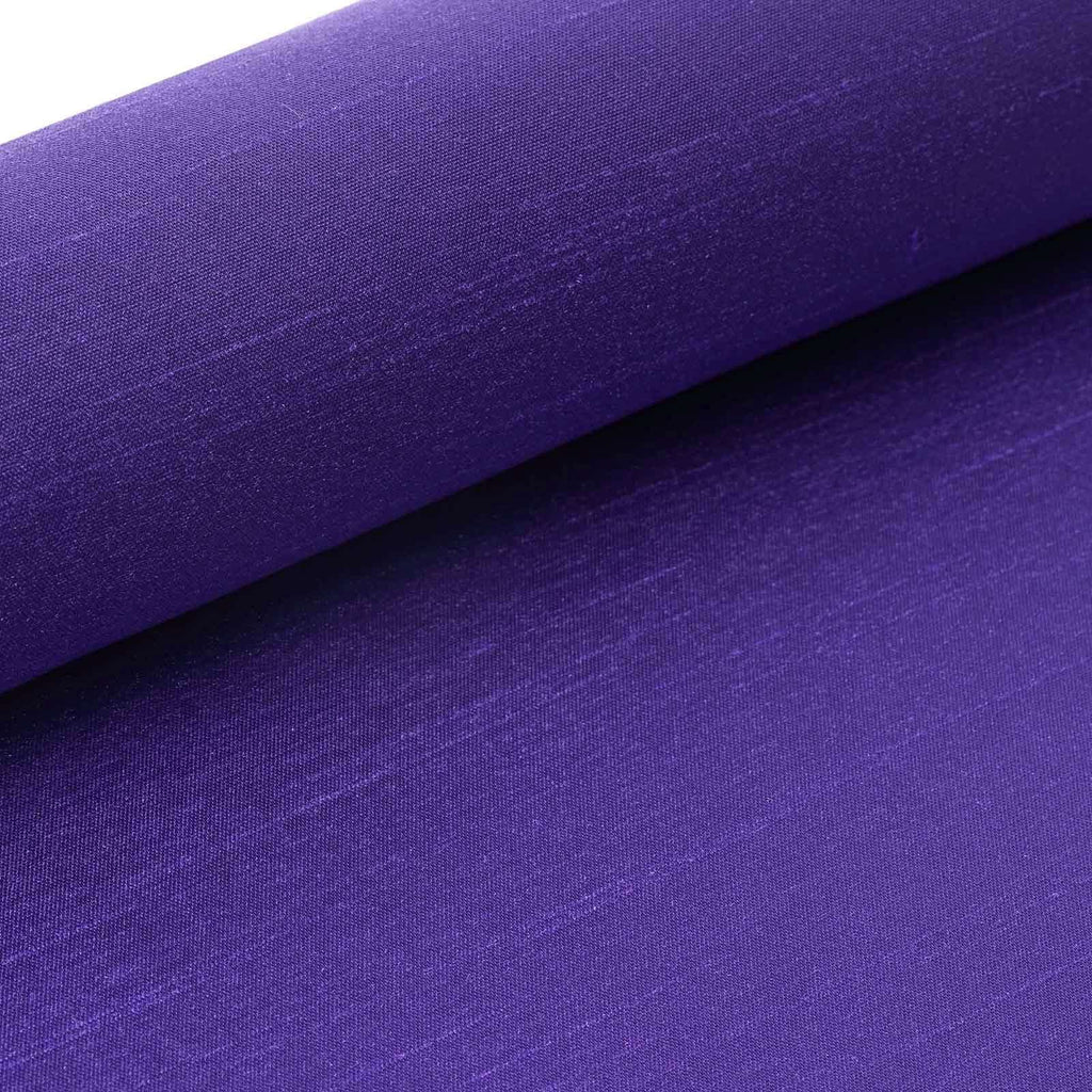 "Premium Slub Polyester Bridal Dress Fabric Bolt - Purple - 12""x10Yards"