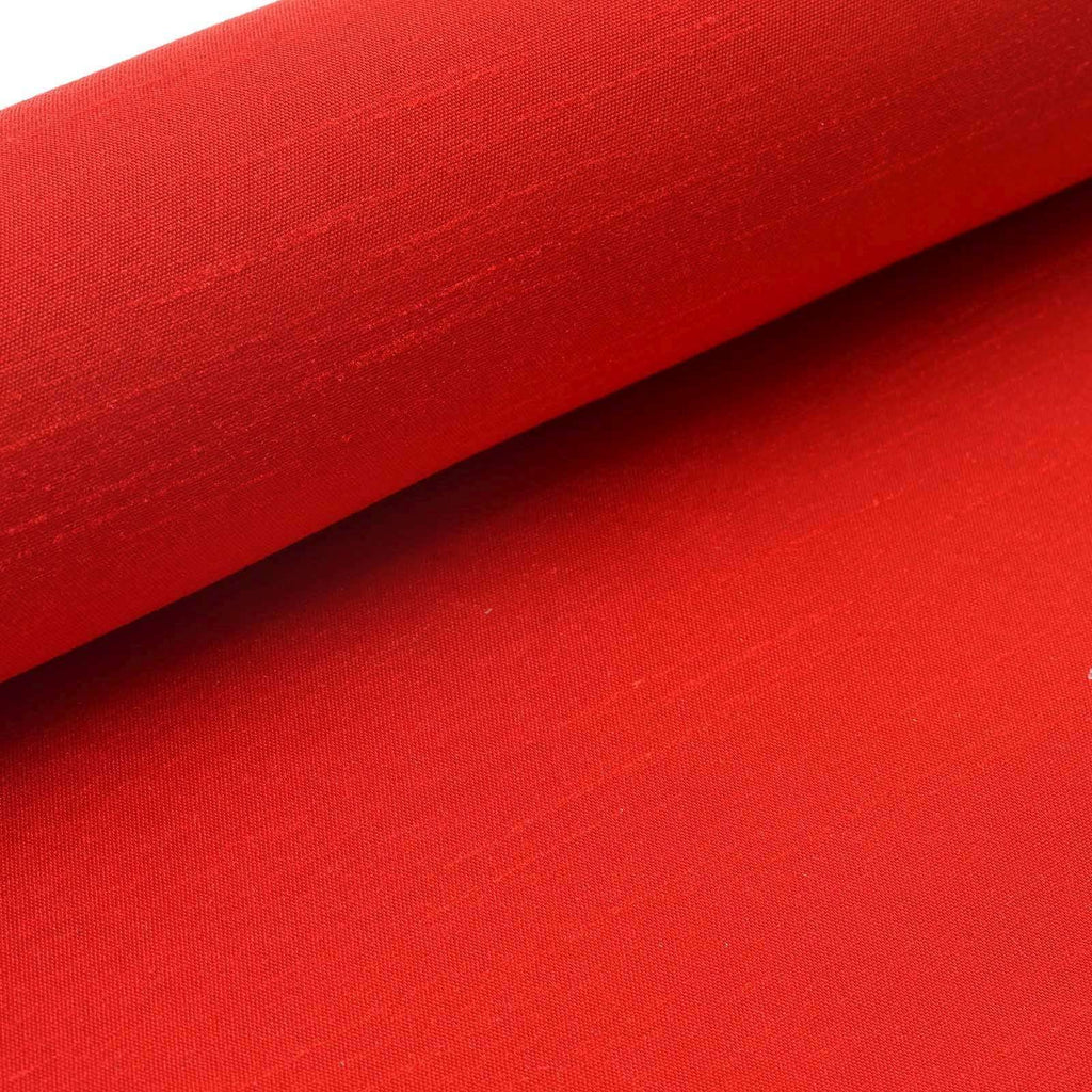 "Premium Slub Polyester Bridal Dress Fabric Bolt - Red - 12""x10Yards"
