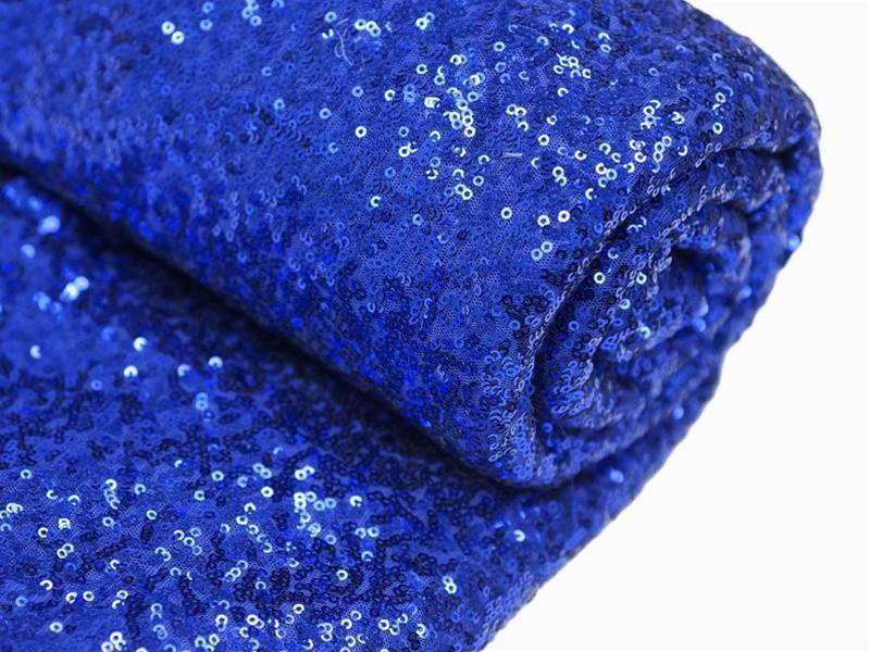 54?x 4 Yards Royal Blue Premium Sequin Fabric Bolt Wedding Party Dress