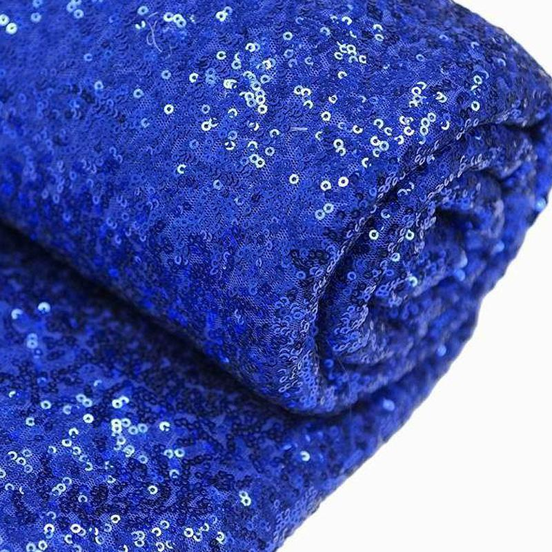 "54"" x 4 Yards Royal Blue Premium Sequin Fabric Bolt Wedding Party Dress"