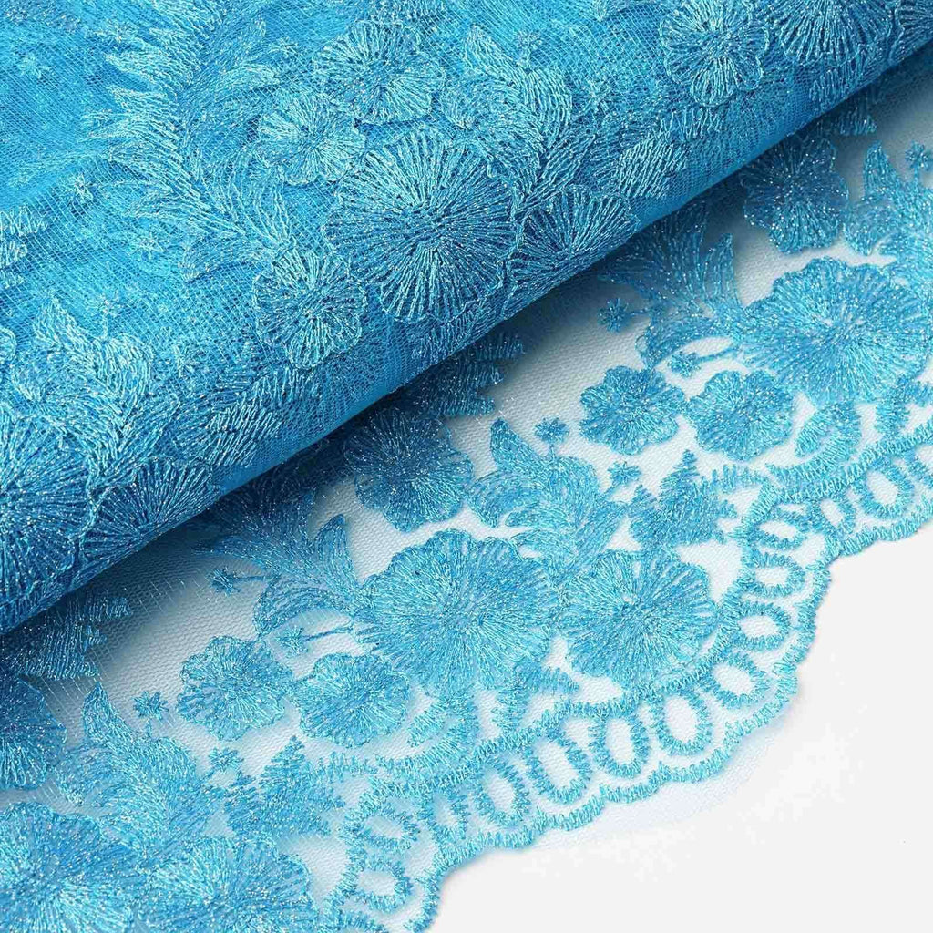 "Luxury Class Fabric Bolts - Turquoise 54""x4yards Embroider"