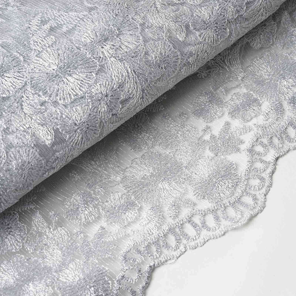 "Luxury Class Fabric Bolts - Silver 54""x4yards Embroider"