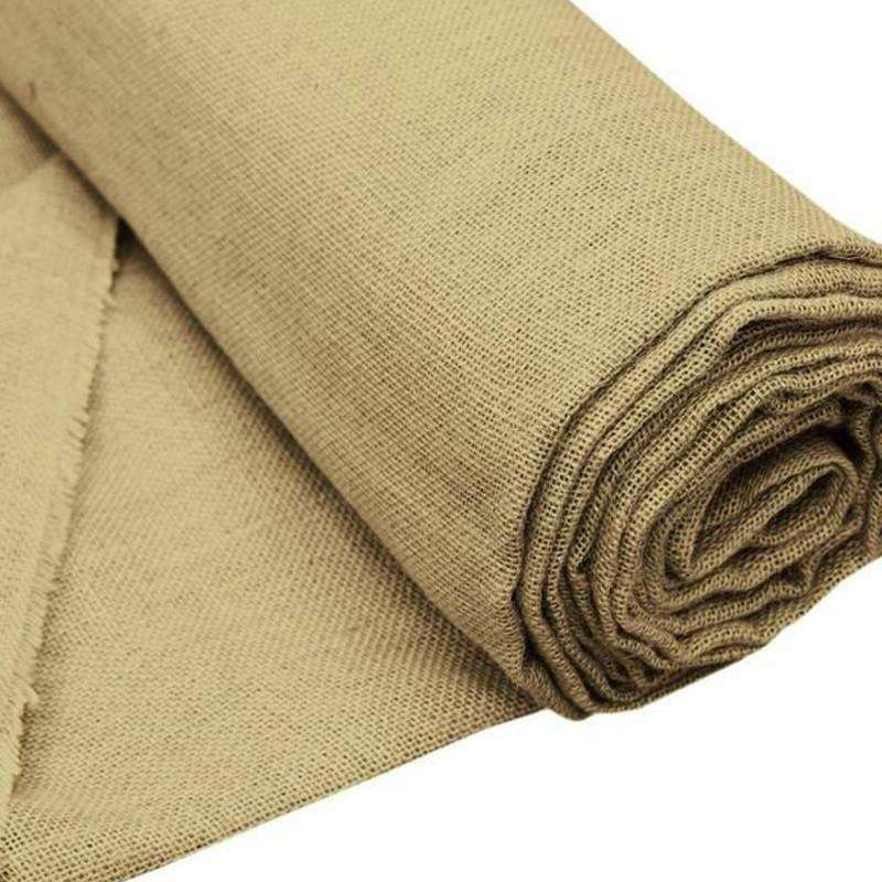 "Authentic Rustic Burlap Roll - Natural Tone 60""x10 Yards"