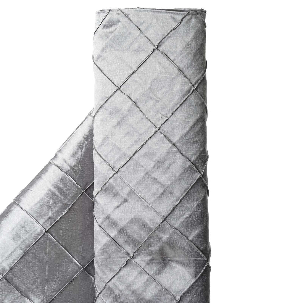 "I CAN'T STOP LOVIN PINTUCKS - 54"" x 10yards Silver Fabric Bolt"