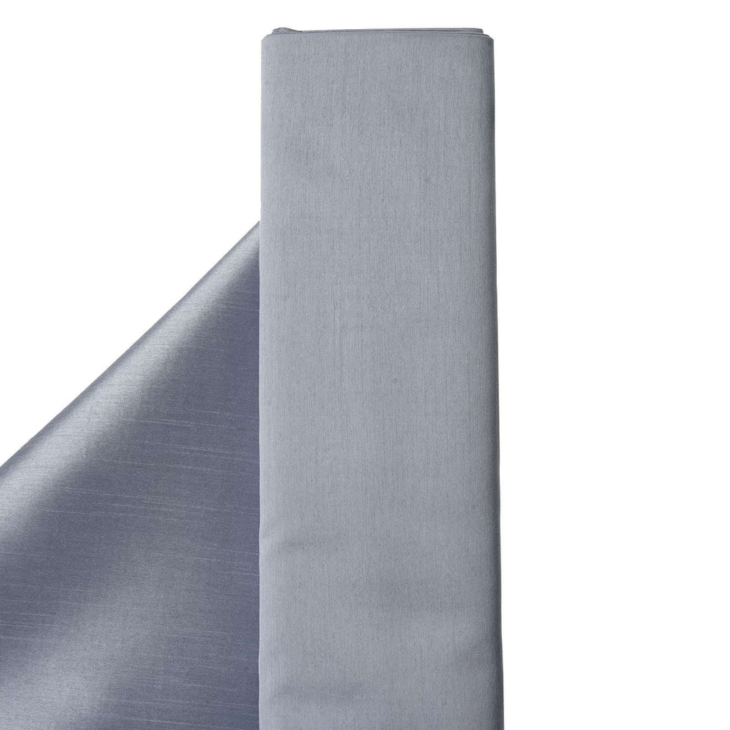 "Premium Slub Polyester Bridal Dress Fabric Bolt - Silver - 54""x10Yards"