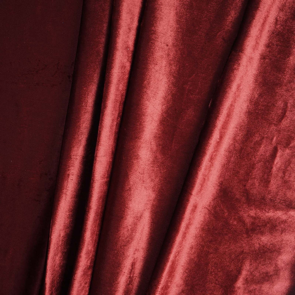 "5 Yards | Burgundy | Velvet Fabric Bolt | 65"" Wide  Fabric Roll"