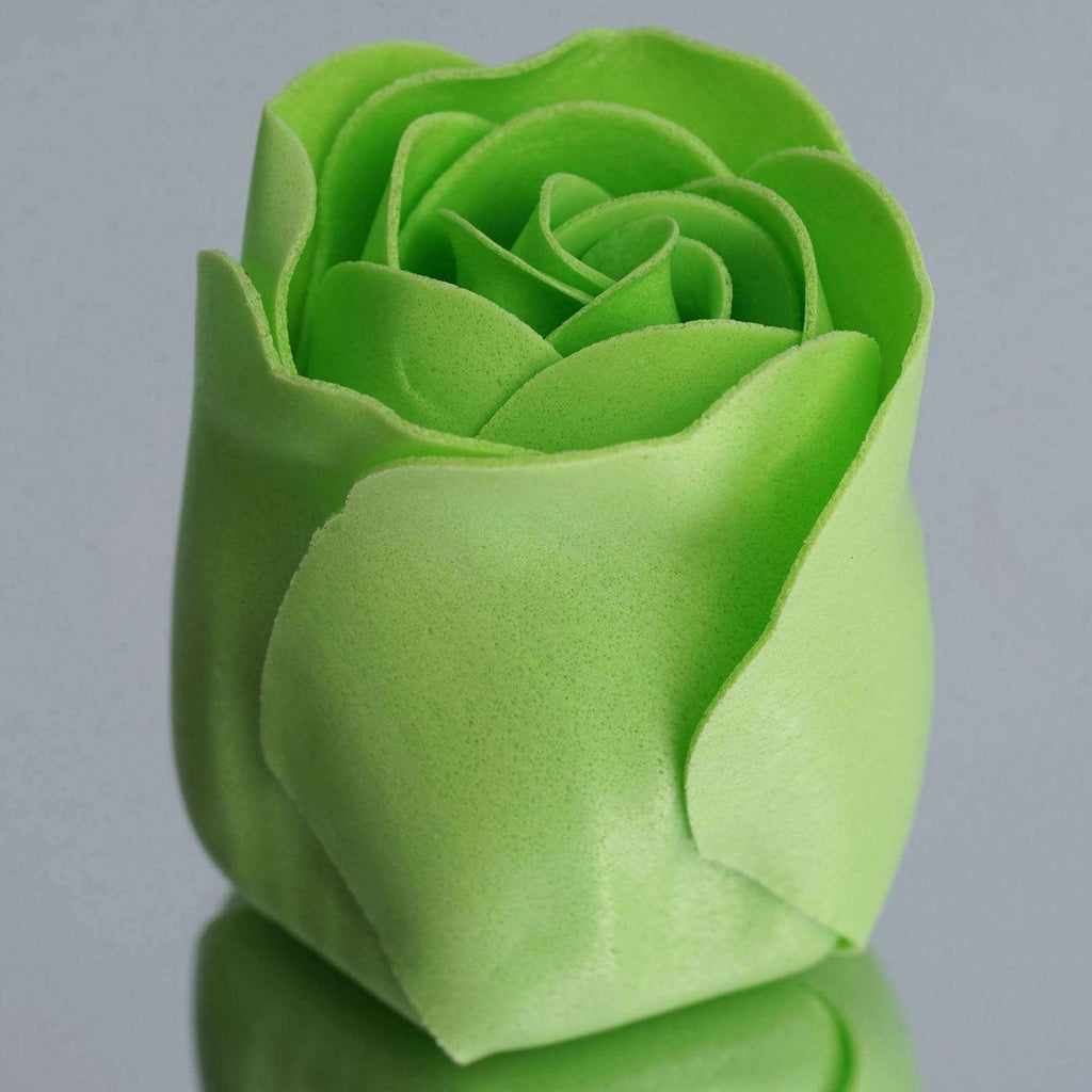 Wholesale Heart Rose Petal Soap Wedding Party Gift Favor Decoration - Apple Green
