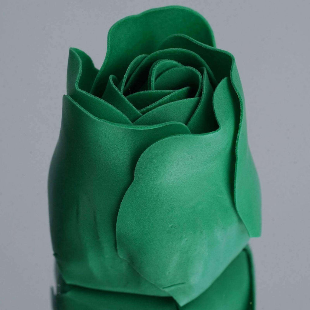 Wholesale Heart Rose Petal Soap Wedding Party Gift Favor Decoration - Emerald Green