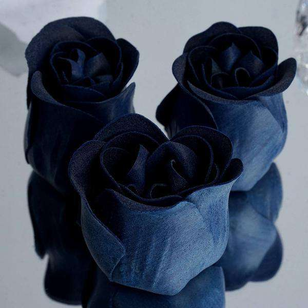 6 Pack Navy Blue Scented Rose Flower Bath Shower Soap