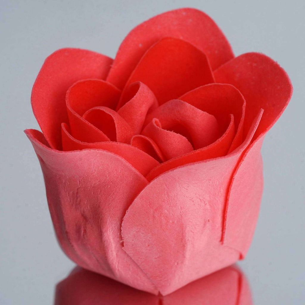 Wholesale Heart Rose Petal Soap Wedding Party Gift Favor Decoration - Watermelon Red