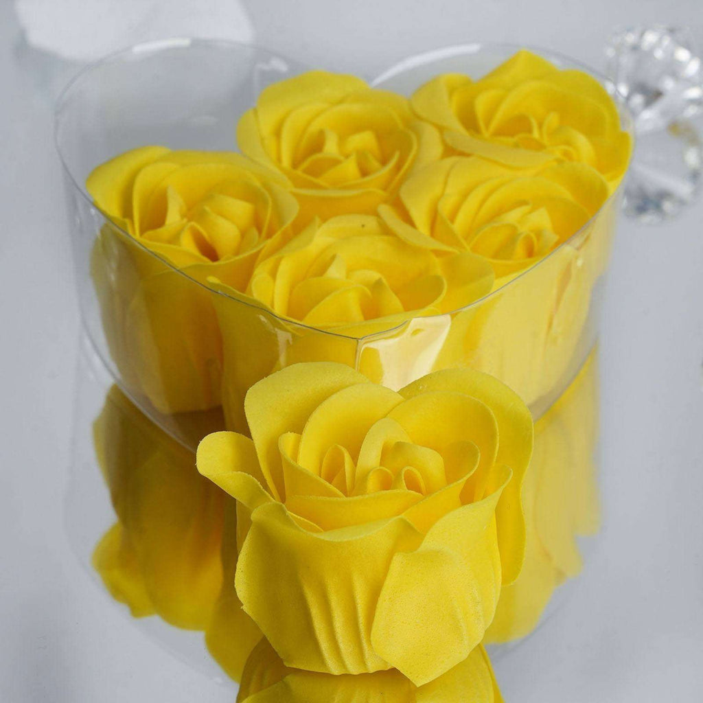 Wholesale Heart Rose Petal Soap Wedding Party Gift Favor Decoration - Yellow