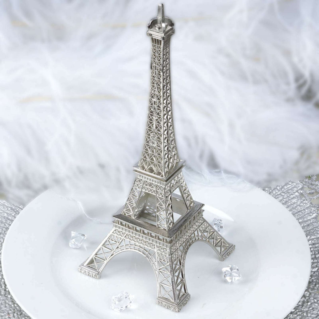 "10"" EIFFEL Tower Wedding Party Event Tabletop Centerpiece Decoration - SILVER"