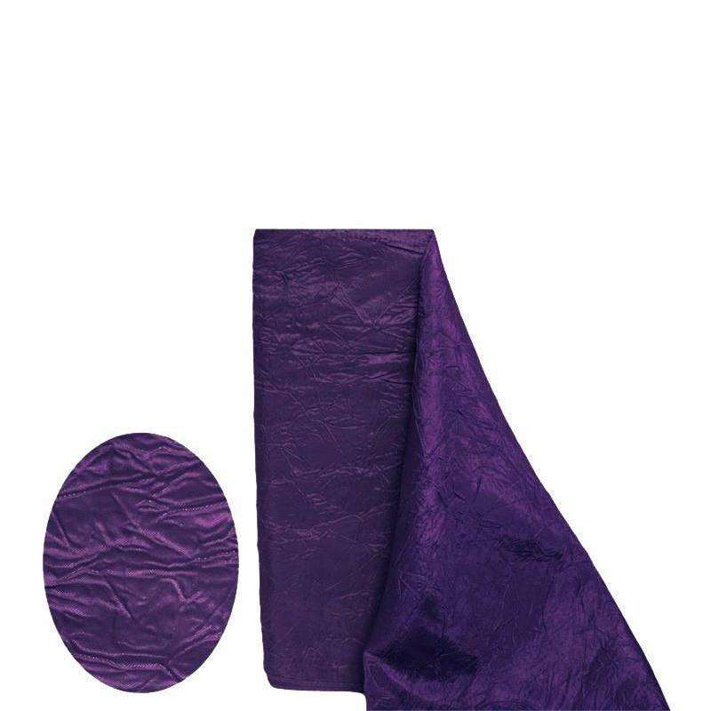 "EGGPLANT Crinkle Taffeta Wedding Party Event Fabric Bolt - 54""x10 Yards"
