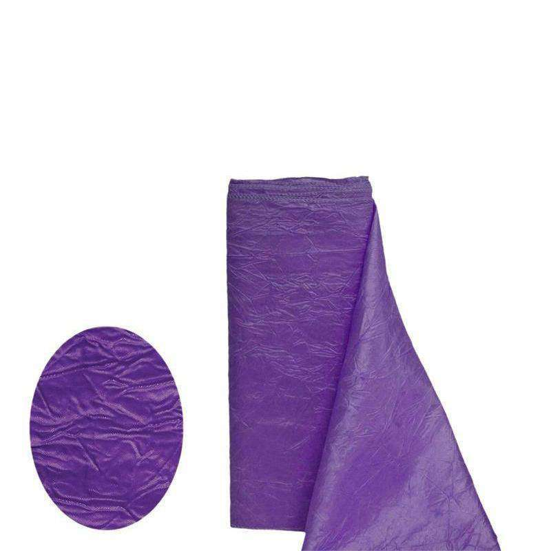 "PURPLE Crinkle Taffeta Wedding Party Event Fabric Bolt - 54""x10 Yards"