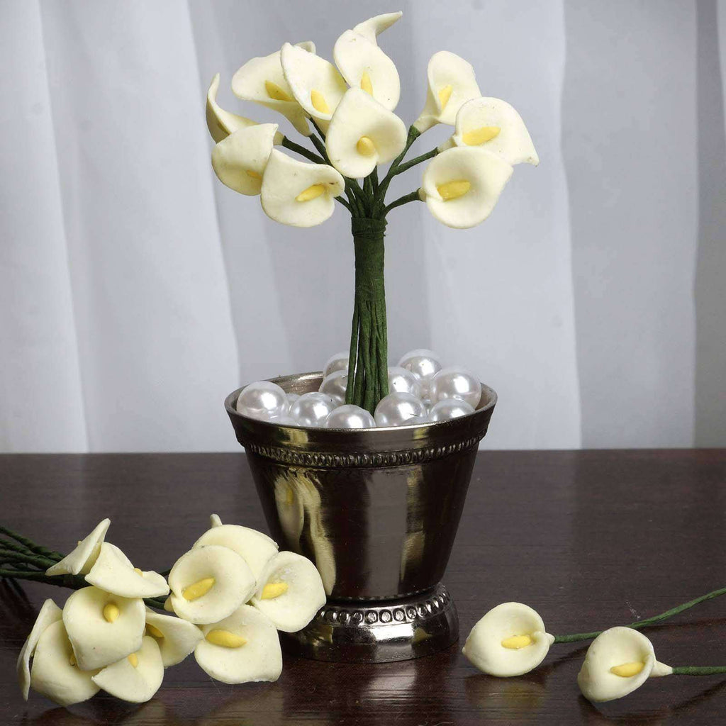 144 EXTRA TOUCH Peacock-Spread Craft Lilies- Ivory