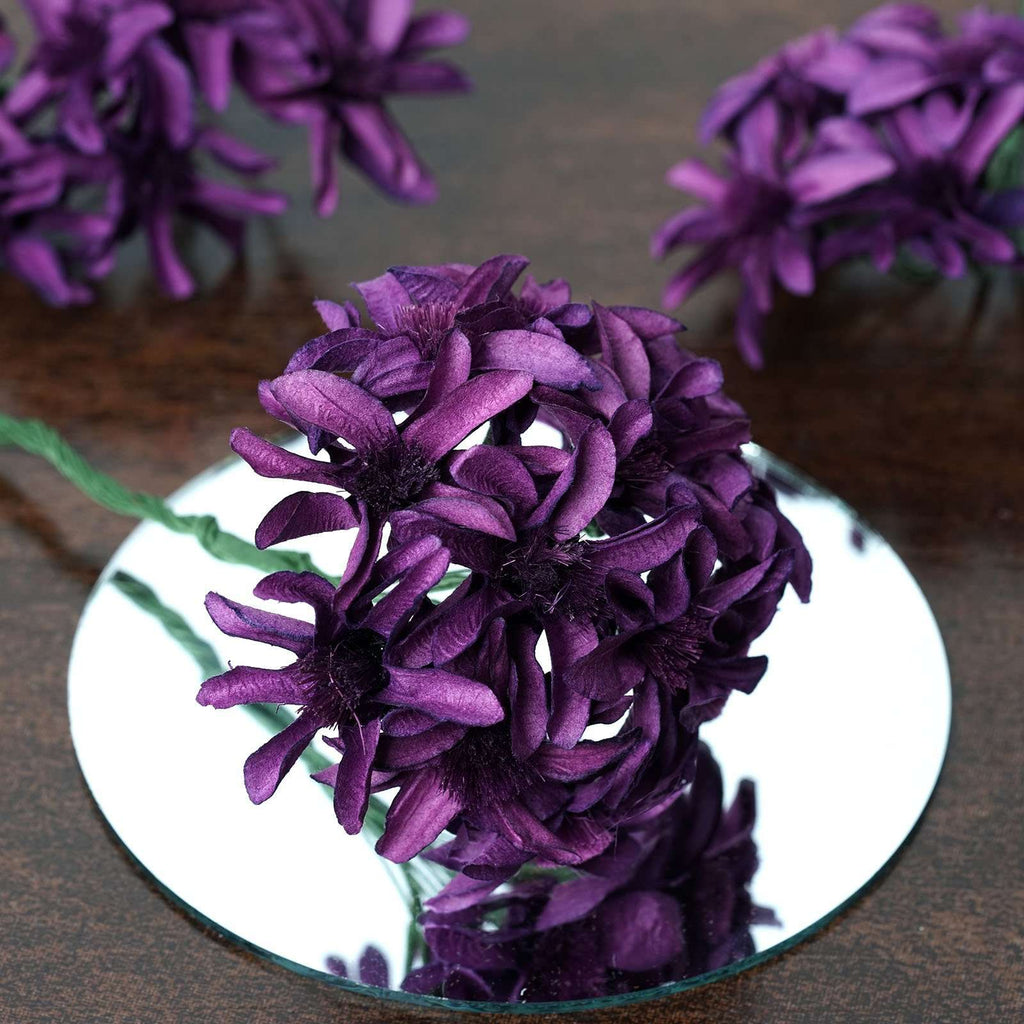 72 Poly Purple Hybrid Lily Paper Craft Flowers