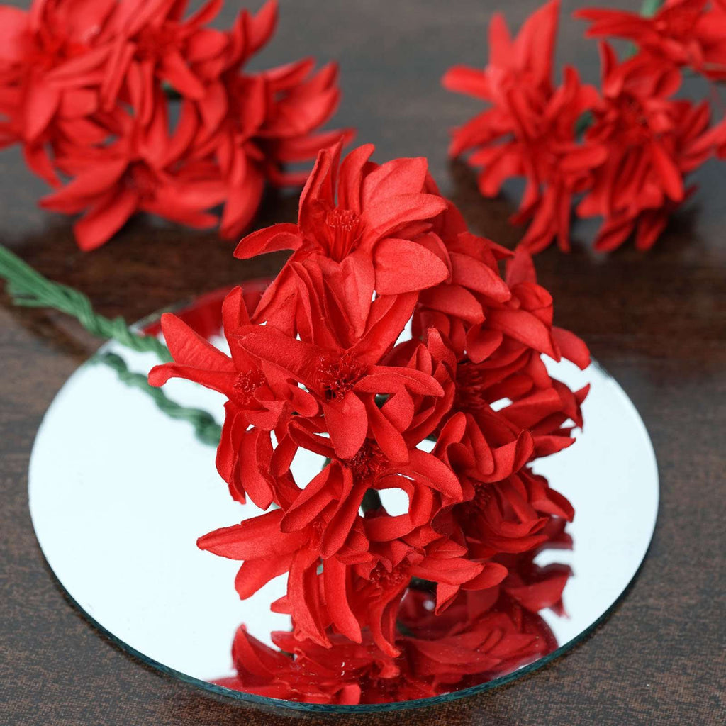 72 Poly Red Hybrid Lily Paper Craft Flowers