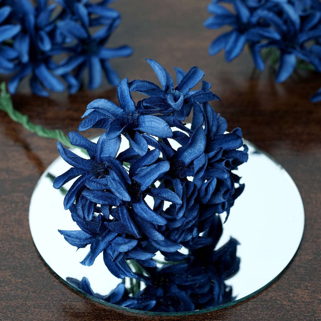 72 Poly Royal Blue Hybrid Lily Paper Craft Flowers