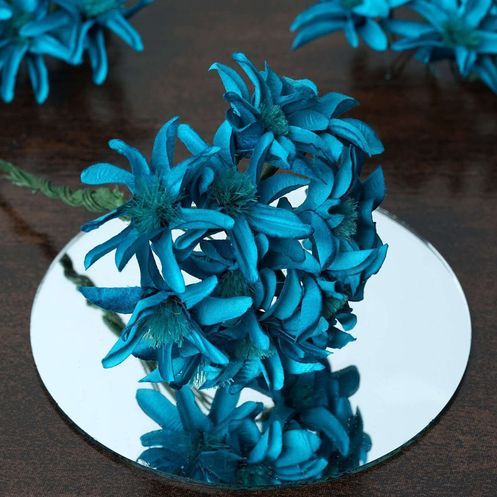 72 Poly Turquoise Hybrid Lily Paper Craft Flowers