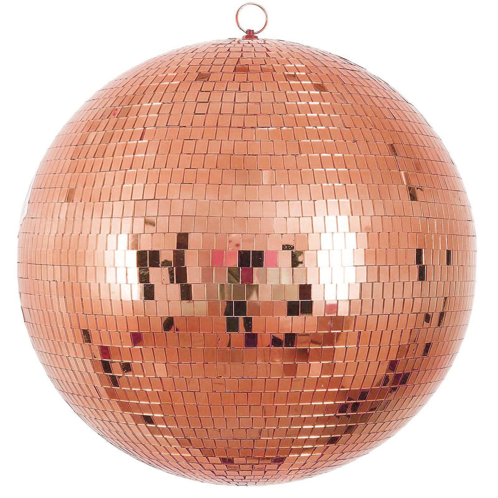 "20"" Groovy Glass Mirror Disco Ball - Rose Gold"