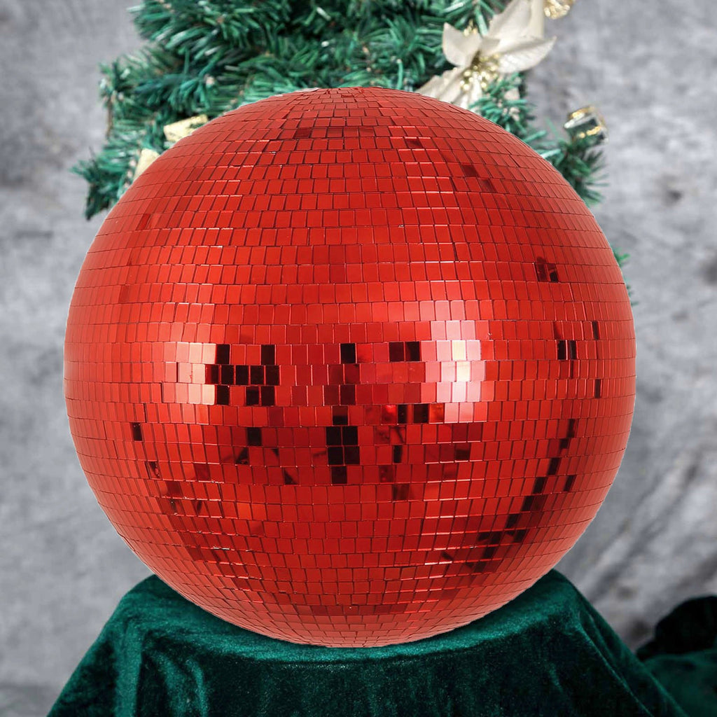 "20"" Groovy Glass Mirror Disco Ball- Red"