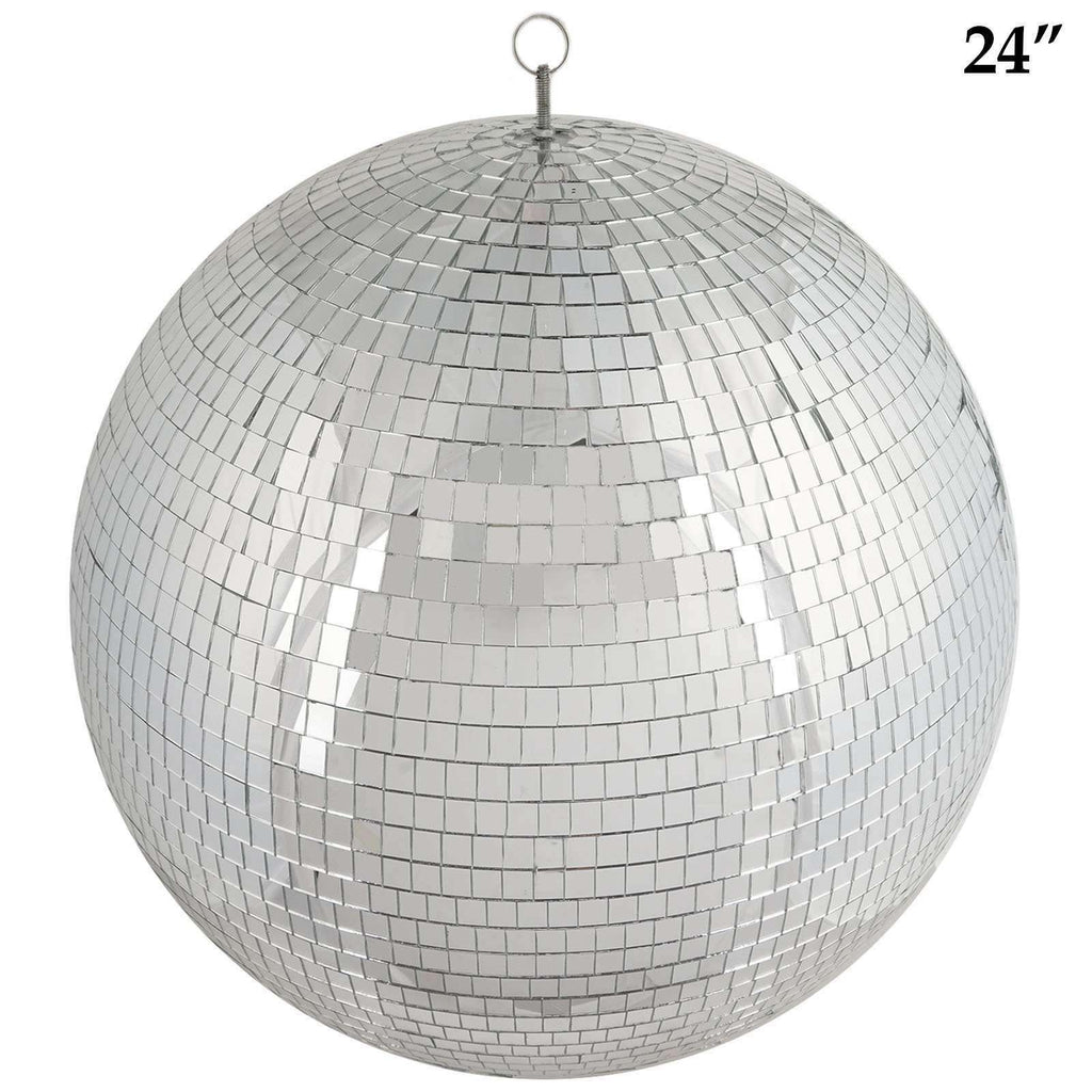 "24"" Groovy Glass Mirror Disco Ball Party Decoration"