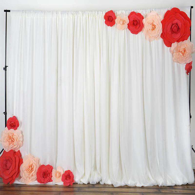 "6 Pack 8"" Large Red Real Touch Artificial  Foam Backdrop Craft Roses"