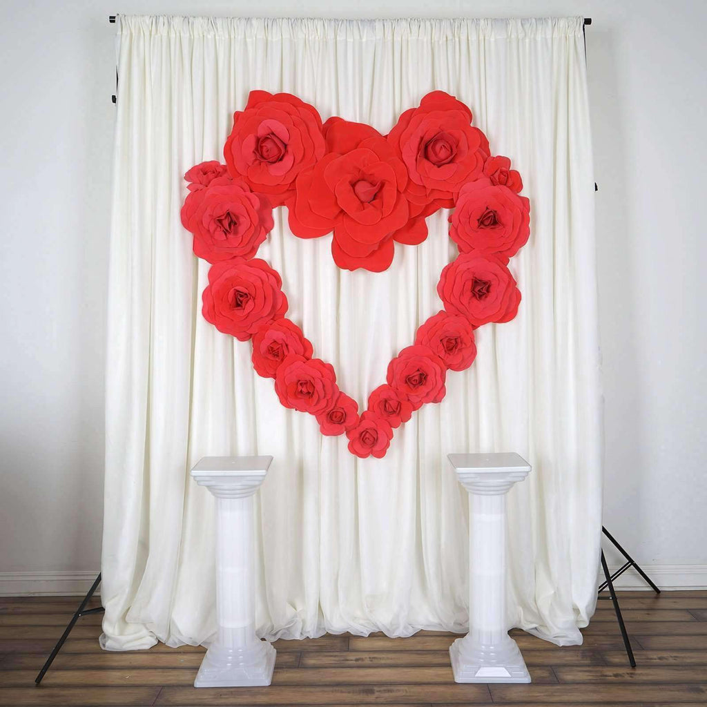 "2 Pack 20"" Large Red Real Touch Artificial  Foam Backdrop Craft Roses"