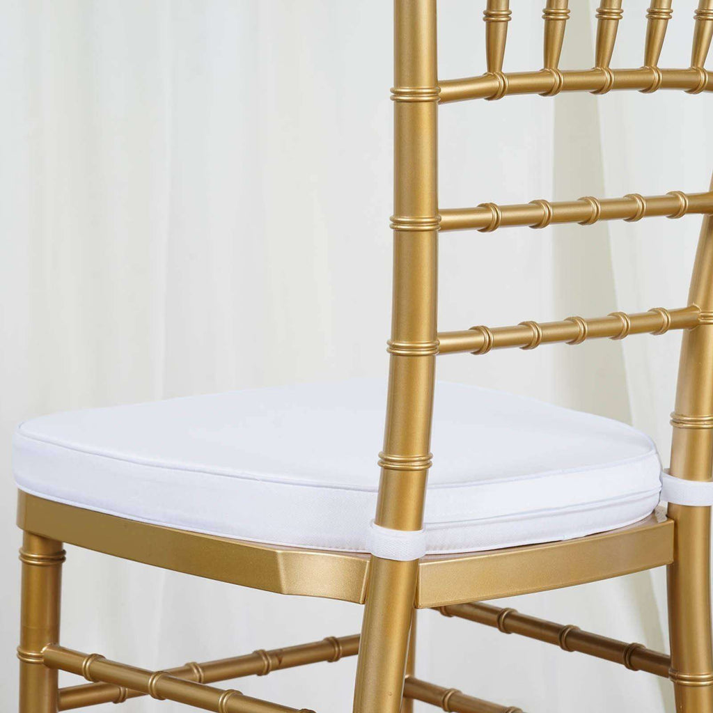 "Tables and Seating Chiavari Chair Cushion - White 1.75"" Thick"
