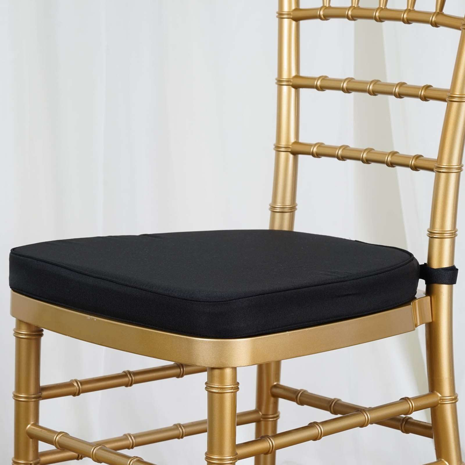 2 Thick Wholesale Black Chiavari Cushion For Beechwood Chairs Party Event