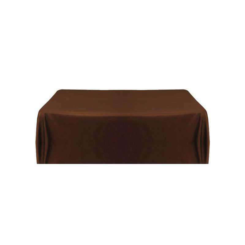 "72""x120"" Mocha Wholesale Polyester Rectangular Linen Tablecloth"