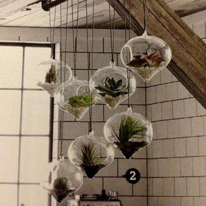 4 Pack Diamond Glass Terrarium Home Decor