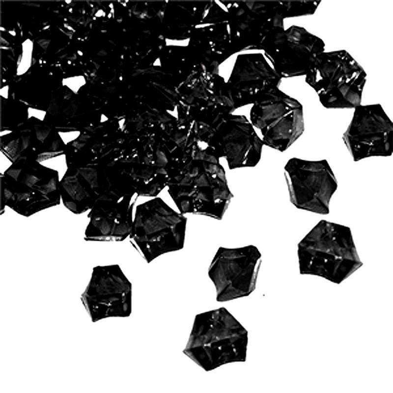 300 pcs BLACK Large Acrylic Ice Crystals Wedding Party Table Scatters Decorations