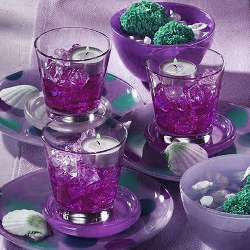 300 pcs PURPLE Large Acrylic Ice Crystals Wedding Party Table Scatters Decorations