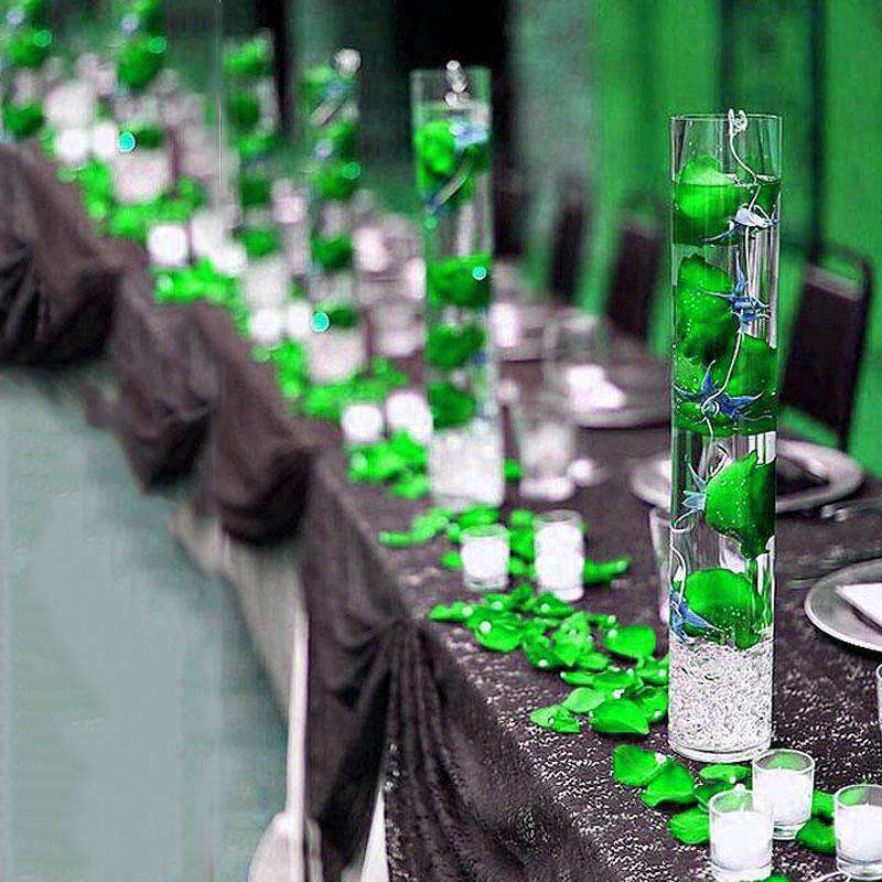 300 pcs APPLE GREEN Large Acrylic Ice Crystals Wedding Party Table Scatters Decorations