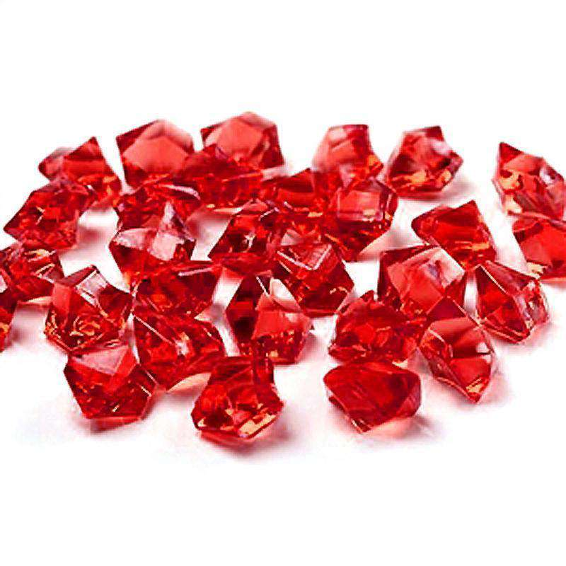 300 pcs RED Large Acrylic Ice Crystals Wedding Party Table Scatters Decorations