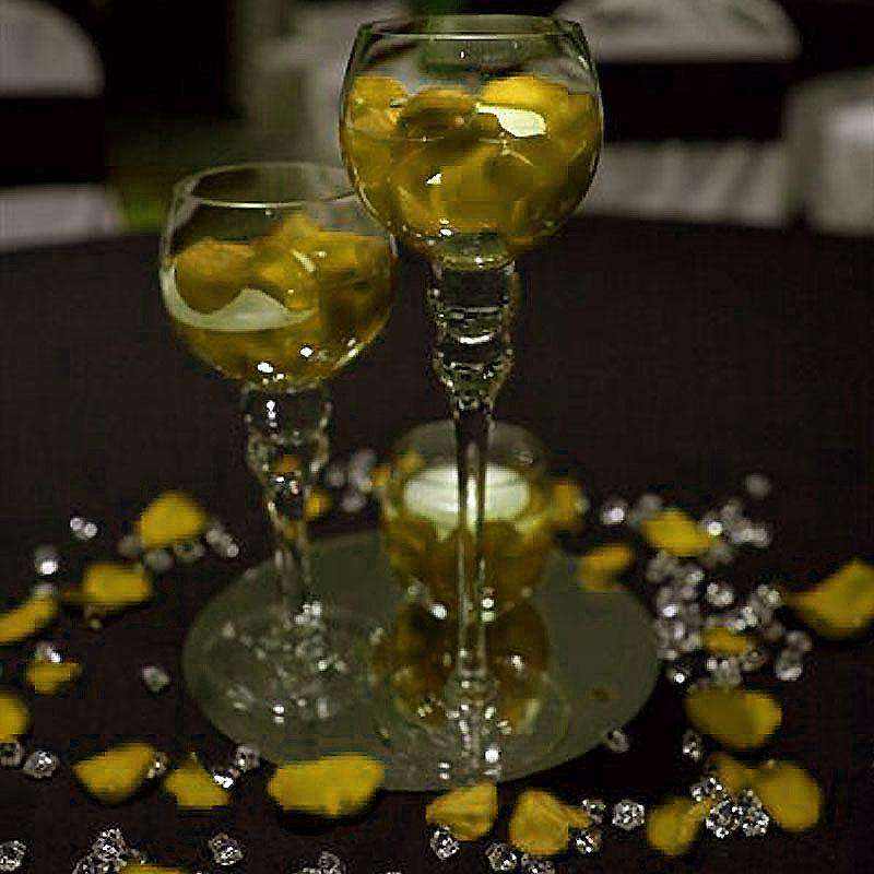 300 pcs YELLOW Large Acrylic Ice Crystals Wedding Party Table Scatters Decorations