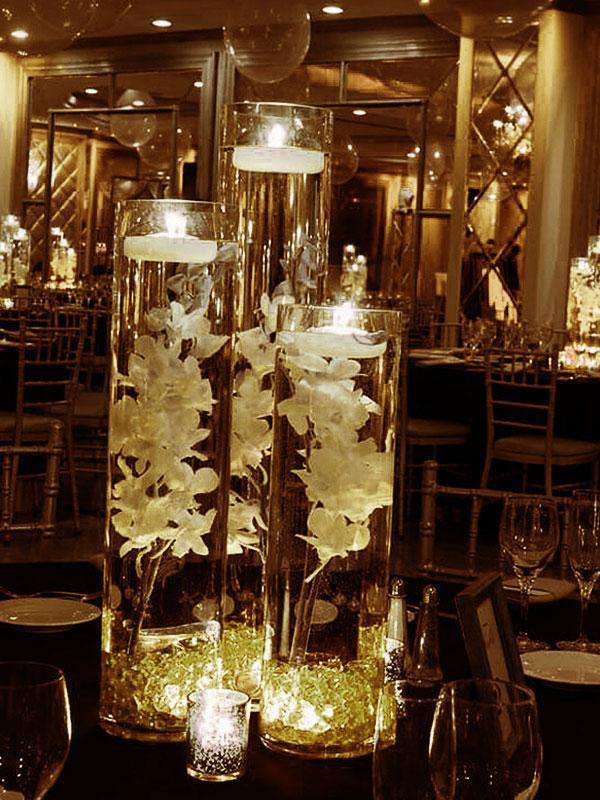 400 pcs GOLD Mini Acrylic Ice Crystals Wedding Party Table Scatters Decorations