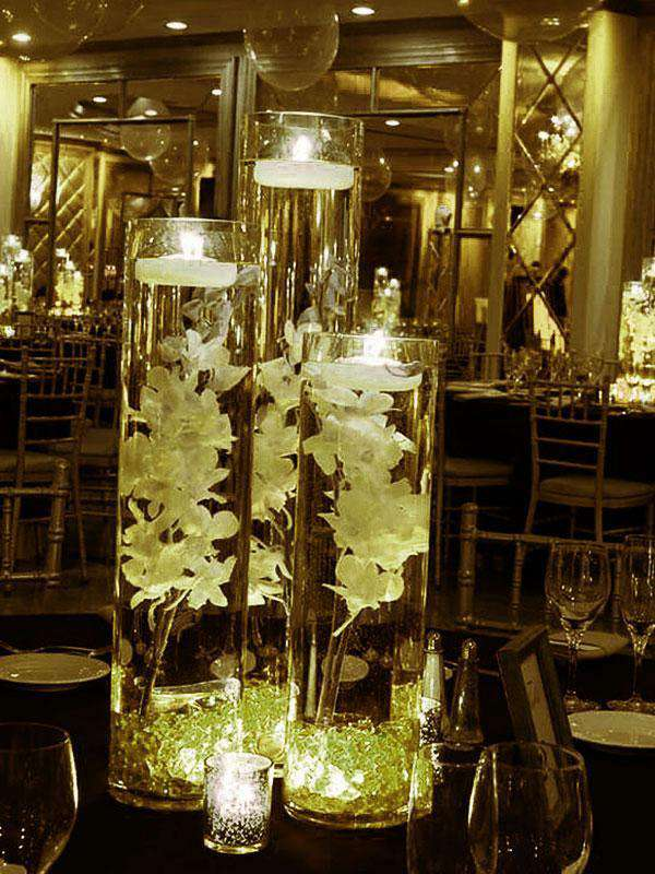 400 pcs YELLOW Mini Acrylic Ice Crystals Wedding Party Table Scatters Decorations