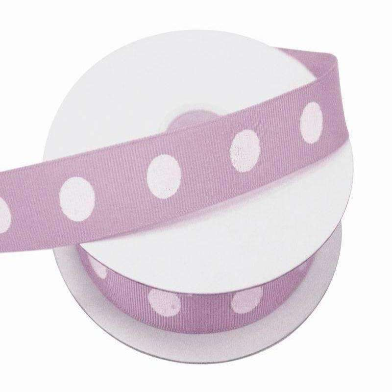 "7/8"" Polka Dot Ribbon-Lavender"