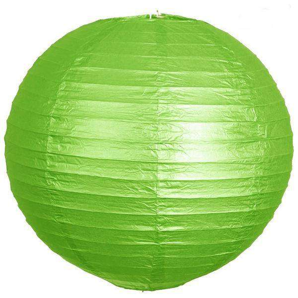 "20"" Paper Chinese Lantern Lamp Shade Hanging Party Event Decor Set - Lime Green- 12 PCS"